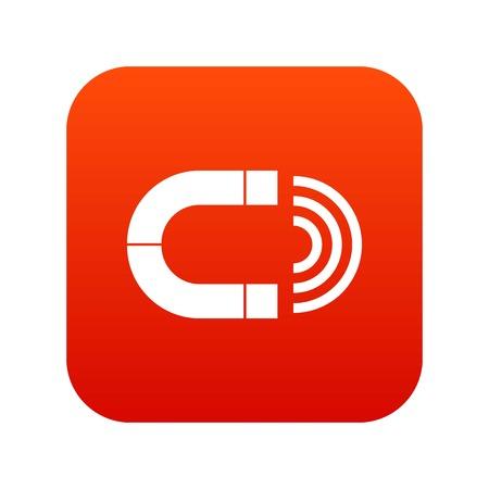 Aimant icône numérique rouge