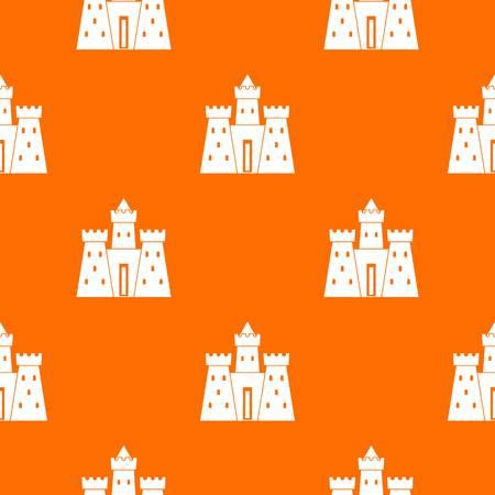Ancient castle palace pattern seamless Illustration