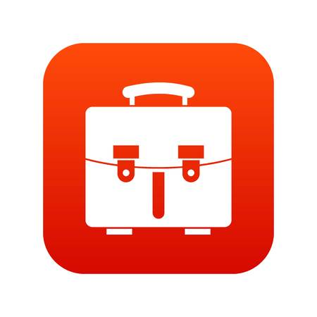 Diplomat bag icon digital red for any design isolated on white vector illustration