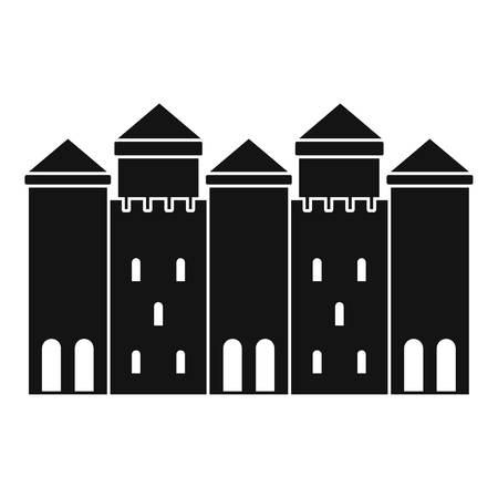 Old castle icon. Simple illustration of old castle vector icon for web Illustration