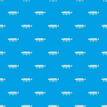 Magician sawing box pattern repeat seamless in blue color for any design. Vector geometric illustration