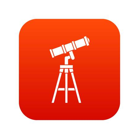 Telescope icon digital red