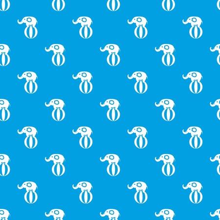 코끼리 공 패턴 원활한 파란색 균형 스톡 콘텐츠 - 88307163