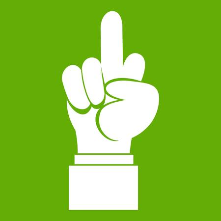 Middle finger hand sign icon green