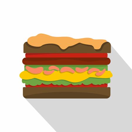 Burger icon, flat style