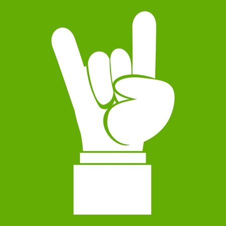 Simple Black And White Devil Horns Hand Sign Cartoon Royalty Free