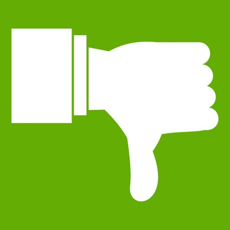 Thumb down gesture icon green