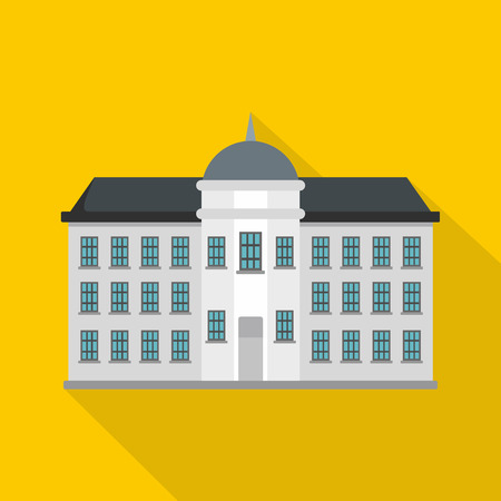 Capital building icon, flat style Illustration