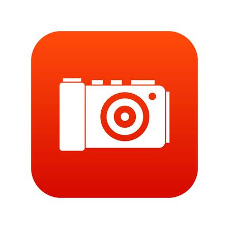 Photo camera icon digital red Иллюстрация