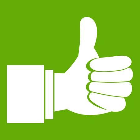 validation: Thumb up gesture icon green