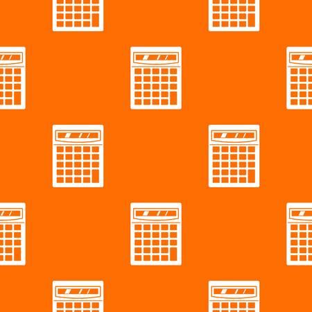 Electronic calculator pattern seamless Illustration