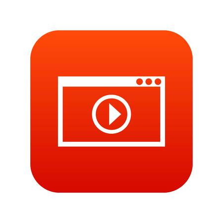 Program for video playback icon digital red