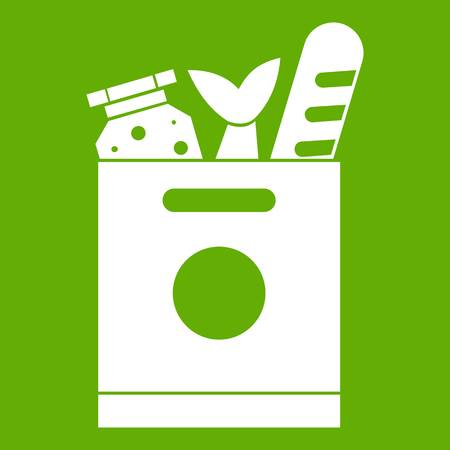 provision: Grocery bag with food icon green