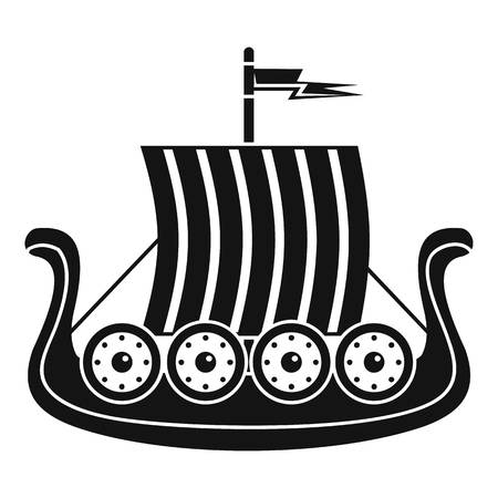 Sail icon, simple style Illustration