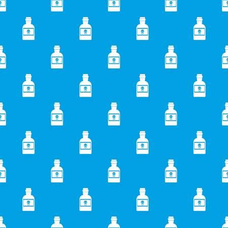 Poison bottle pattern seamless blue