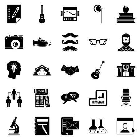 Undergraduate icons set. Simple set of 25 undergraduate vector icons for web isolated on white background