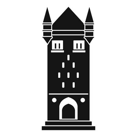 Castle tower icon. Simple illustration of castle tower vector icon for web Illustration