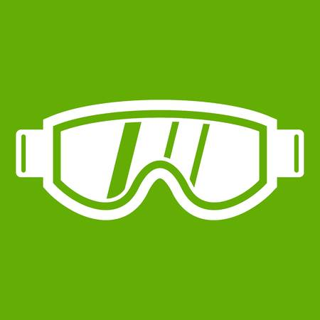 eyewear fashion: Skiing mask icon green