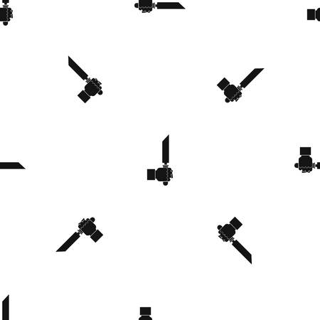 Pincer or plier in man hand pattern seamless black