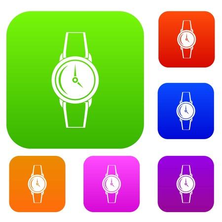cronógrafo: Wristwatch set color collection