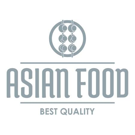 Quality asian food   simple gray style Illustration