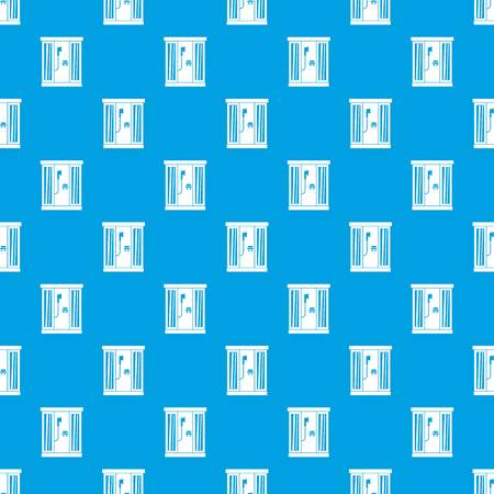 Shower cabin pattern seamless blue Stock Vector - 88328205
