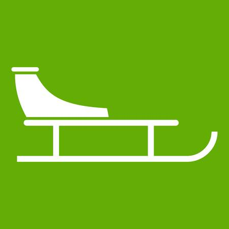 Sled icon green Illustration