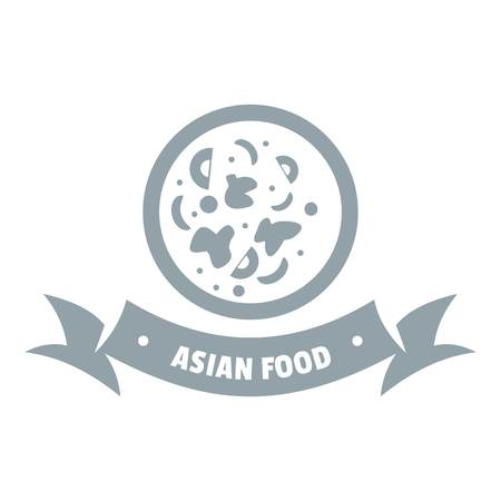 Top asian food  simple gray style Illustration