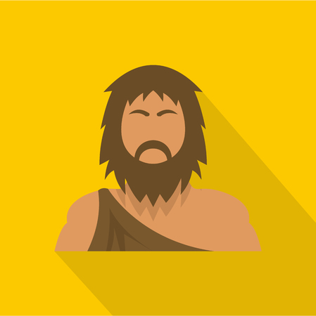Neanderthal icon, flat style