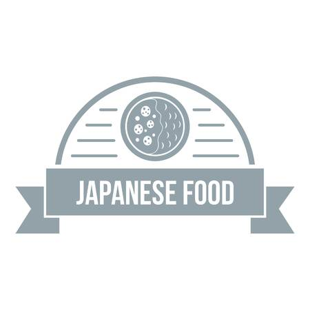 Traditional japanese food   simple gray style