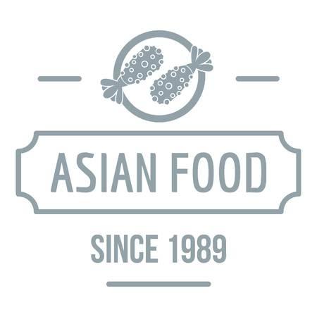Thai asian food   simple gray style