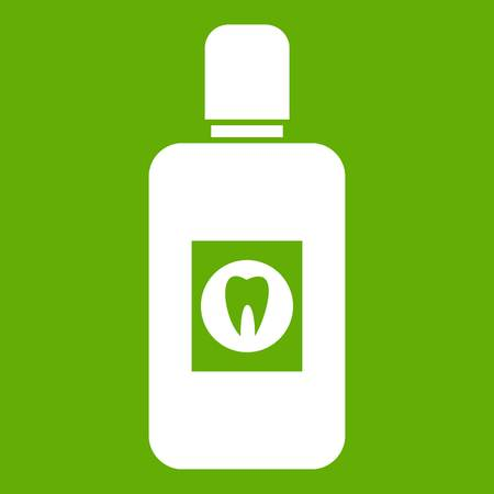 Bottle of mouthwash icon green