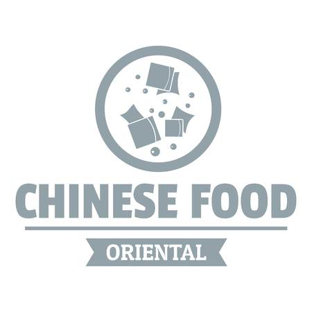 Chinese food  simple gray style