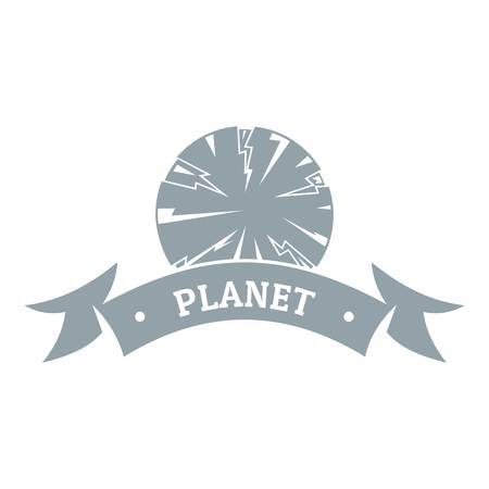 Planet astronomy  simple gray style Illustration