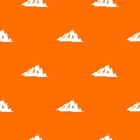 Canadian mountains pattern seamless Illustration