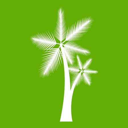 High palm tree icon green