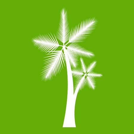 High palm tree icon green