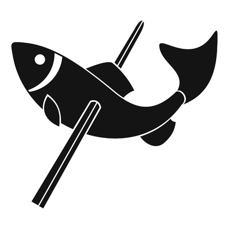 Fishing icon, simple style