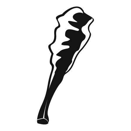 Truncheon icon, simple style Illustration