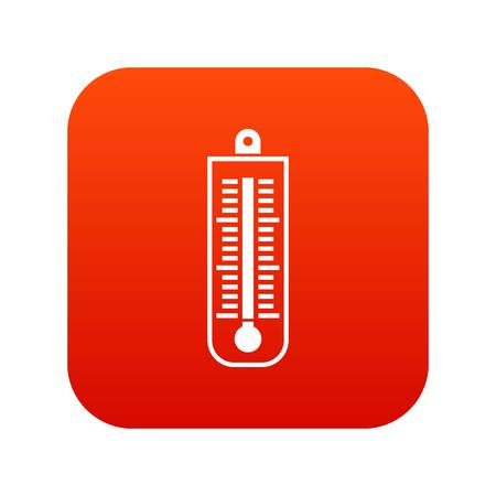 Thermometer icon digital red Illustration