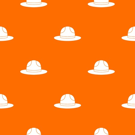 relay: Canadian hat pattern repeat seamless in orange color for any design. Vector geometric illustration