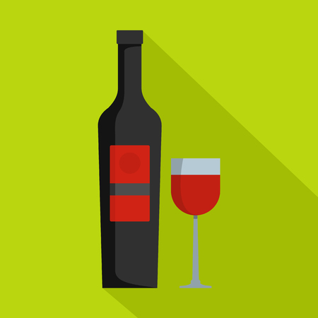 Wine icon. Flat illustration of wine vector icon for web