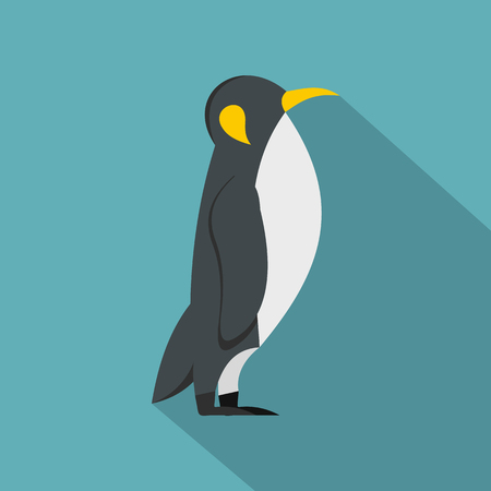 antarctica: Penguin icon, flat style