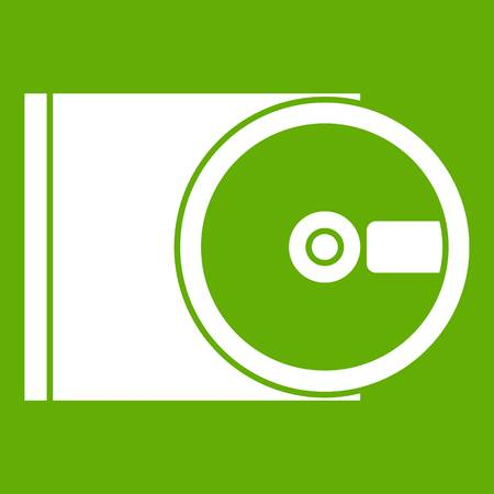 DVD drive open icon green