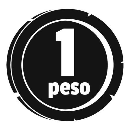 Peso icon. Simple illustration of peso vector icon for web