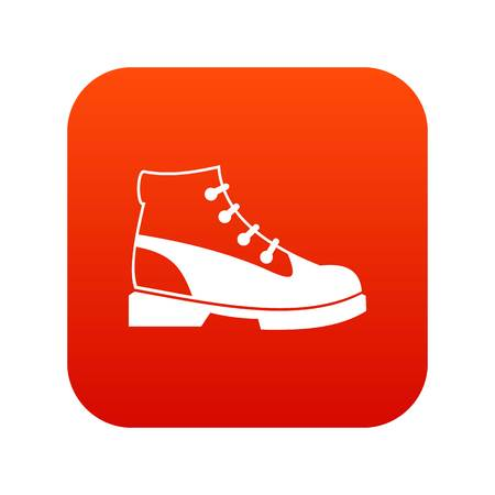 Men oxfords icon digital red for any design isolated on white vector illustration