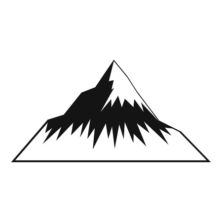 Mountain icon. Simple illustration of mountain vector icon for web