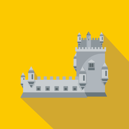 History castle icon. Flat illustration of history castle vector icon for web Illusztráció