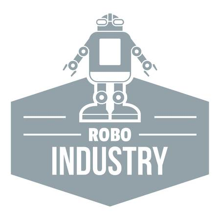 Robotic cyborg logo. Simple illustration of robot cyborg vector logo for web