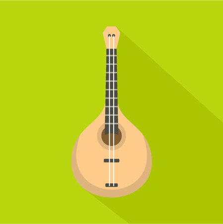 Guitar icon. Flat illustration of guitar vector icon for web